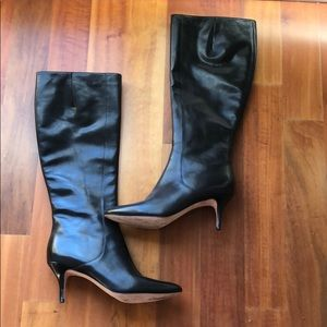 Cole Haan Black Leather tall boots 7.5